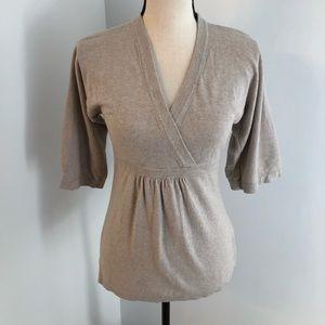 Boden cashmere blend v-neck blouse Size 4